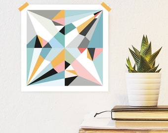 Origami Unfolded print crane | printable wall art | digital pdf file | instant download