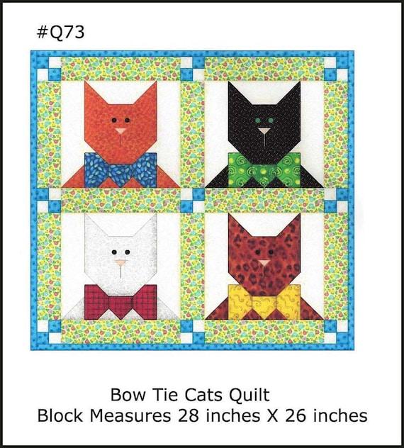 Quilt Nähen Muster Katze Block Applikation Katze Schleife