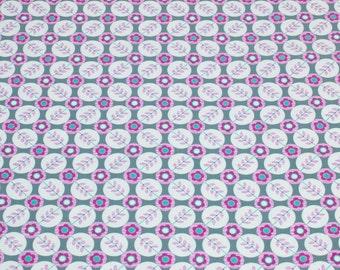 "LAMINATED Cotton  - Plum Paisley Dots, 56"" Wide, BPA & PVC Free"