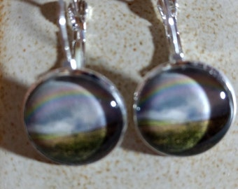 Pair of Rainbow French Lever Back Style Earrings