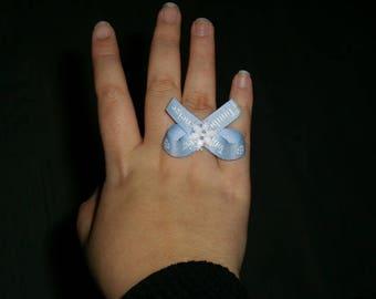 Ring adjustable snowflake / winter set