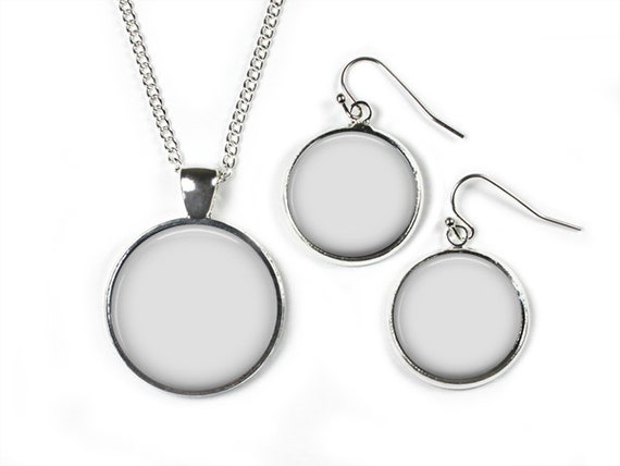 digital photo template for the set necklace with 1 inch