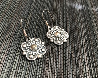 Retro Sterling Silver Earrings- Mexico