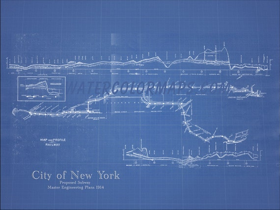 New york subway map new york map subway map blueprint map like this item malvernweather Images
