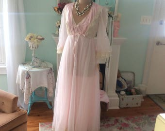 Fairytale Tosca Peignoir set Pale Pink Fantasy Gown and Robe