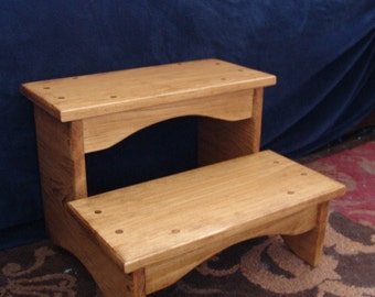 bedside step stool etsy. Black Bedroom Furniture Sets. Home Design Ideas
