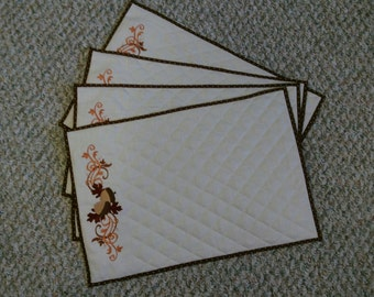 Quilted Acorn placemats