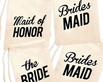 Bridal Party Jewelry Bags, Grooms Lady Gift Bag, Matron of Honor Favor Bag, Maid of Honor Gift Bag, Bridesmaid Necklace Bag, Brides Babe Bag