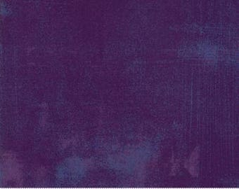 Purple Textured Fabric - Loganberry Grunge by BasicGrey for Moda Fabrics 30150 382 Purple with blue accent - Priced by the 1/2 yard