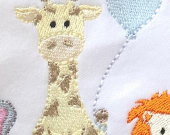 Giraffe with Balloon Machine Embroidery Design