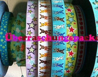 Woven ribbon surprise package