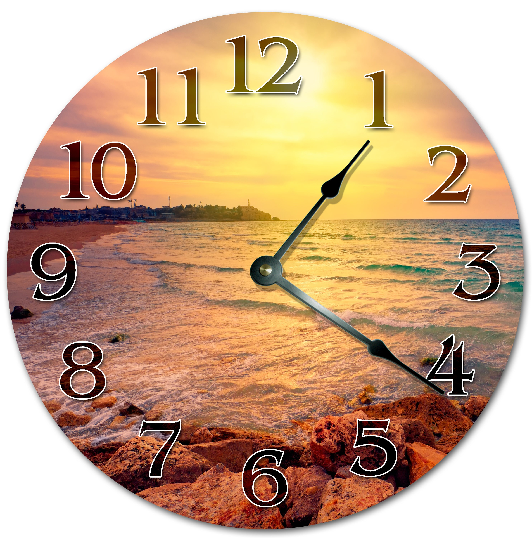10.5 BEACH Clock - Living Room Clock - Large 10.5 Wall Clock - Home ...