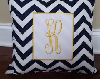 Pillow, personalized pillow, chevron pillow, gifts for her, decorative pillows, monogrammed pillow, home decor, embroidery pillow, gifts