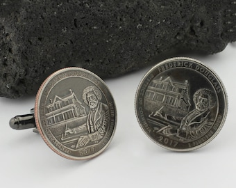 Frederick Douglass Cufflinks (Cuff Links). Men's Cufflinks made to honor the great american abolitionist, orator, and statesman.