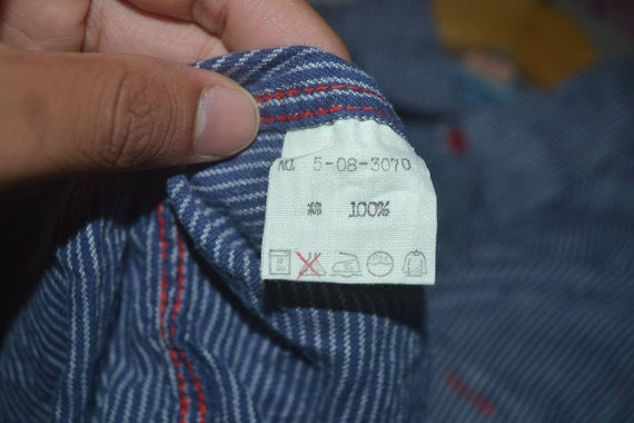 buttonup work hickory shirt Casual 45RPM by stripe double pocket R q0v8gn