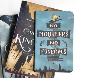 No Mourners No Funerals — Hand-Lettered Journal — Leigh Bardugo, Six of Crows Inspired — 80 pages