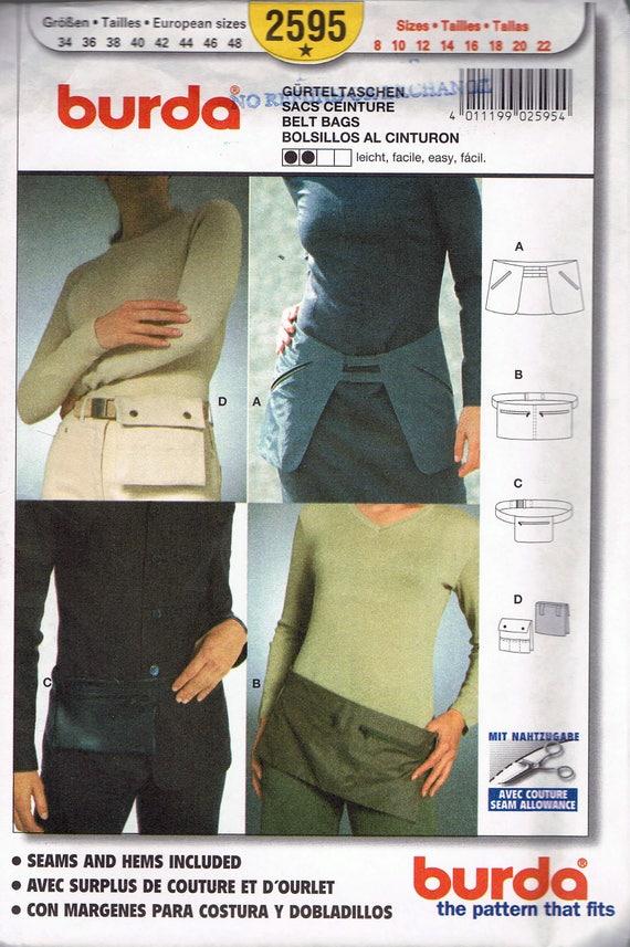 Fanny Pack-Schnittmuster - Gürtel Tasche nähen Muster - Clip auf ...