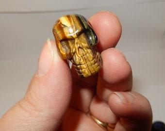 Stone skull bead