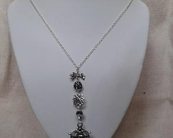 """Silver Lantern necklace"""
