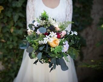 Boho bouquet for bride Wedding bouquet Bridal bouquet Woodland bouquet Rustic bouquet Bridesmaid bouquet
