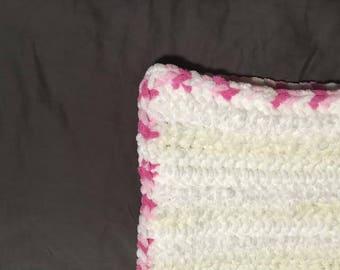 Crochet Baby Blanket - cream