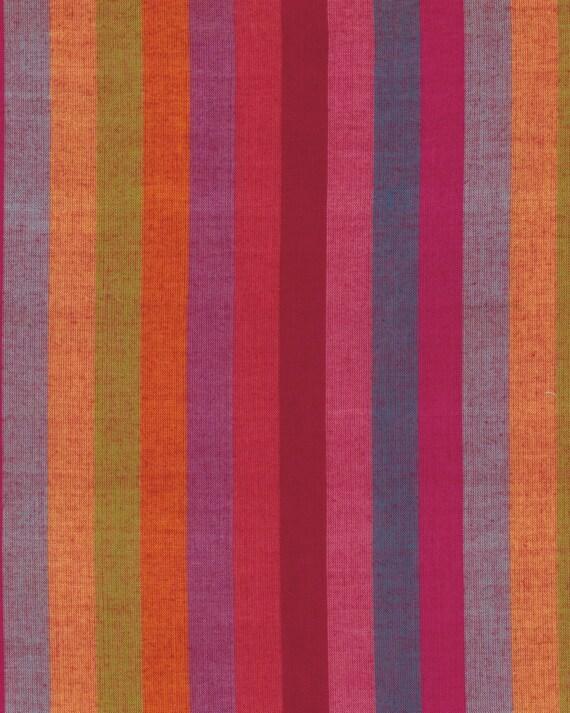 BROAD STRIPE Woven  WATERMELON wbroad.water by Kaffe Fassett fabric sold in 1/2 yard increments