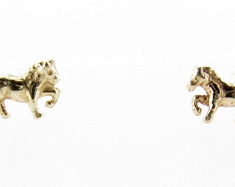 9ct Yellow Gold Prancing Pony Stud Earrings