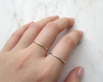 Silver Ring Set of 2 //silver rings, stacking rings, adjustable rings, band rings, minimalist, chic rings, boho, simple rings, wire rings
