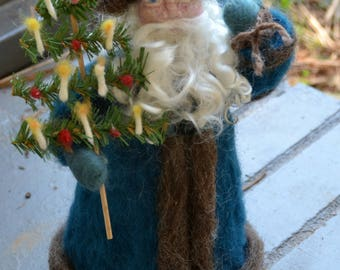 Victorian Father Christmas santa claus needle felted