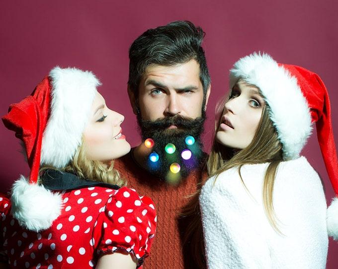 Featured listing image: Quantum Beard Lights Beard Fairy Lights Baubles for the Beard Baubles for the Beard Set of Six Beard Art Baubles Next Generation