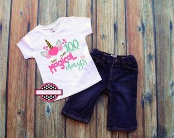 100 Magical Days/100 Days of School/100th Day/Magical Days of School/Shirt for Her/School Shirt/Gift for Her/Elementary School/Preschool