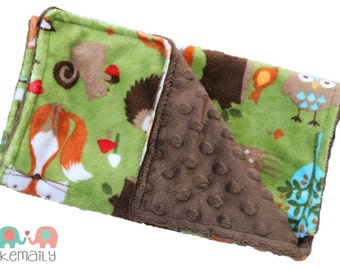 Burp Cloths Woodland Creatures Minky Burp Cloth - Baby Shower Gift - Burp Rag - Feeding - Nursing - Newborn Essentials - New Mom Gift