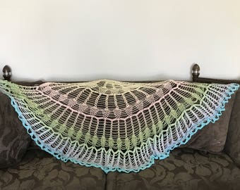 Stunning cotton lightweight shawl, wrap, beach cover all