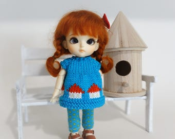 Outfit for bjd doll tiny 15-16cm type Lati Yellow, Pukifee, Luts tiny delf, Mui Chan Mini and similar