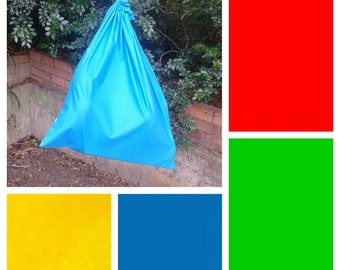 Extra large cotton drawstring bag, 4 primary colours, for toys, books, kindergarten