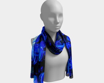Blue Jellies Long Scarf