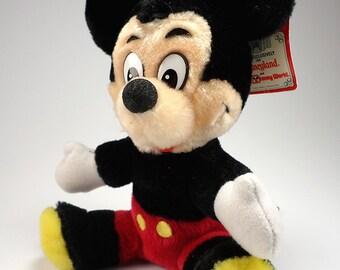 Vintahe Mickey Mouse Plush Toy, Disneyland Exclusive, Walt Disney World, Walt Disney Productions, 1980's