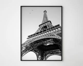 Eiffel Tower print, Eiffel tower, Paris print, Paris wall art, Eiffel tower poster, Paris decor, Black & White, Paris art, Art deco poster