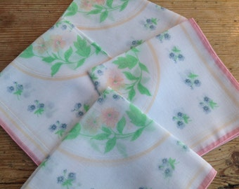 Retro Floral Hankies Set Of Four