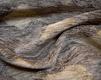 Chenille Diamond Grey Fabric