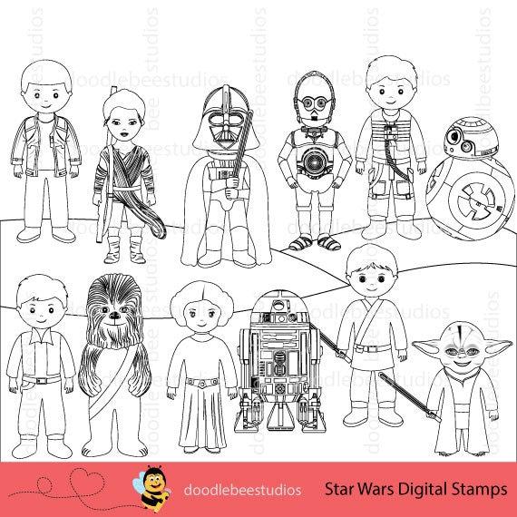Star Wars Digital Stamps Clipart