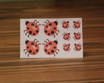 Temporary Tattoo/Ladybug Tattoo/Custom Tattoo/Miniature Tattoos