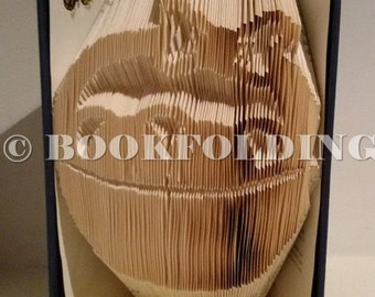 Easter basket with eggs book folding pattern