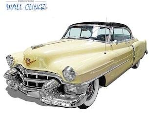 Cadillac Convertible Coupe, Wall Graphic Decal, Man Cave Decor, Garage Wall Decor, Car Wall Stickers, Wall Decal, Cadillac Convertible Coupe