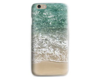 Beach iPhone 7 case Teal iPhone 6 case Wave iPhone 7 case Photo Print Soft case iPhone Birthday gift for her Gift for beach lover