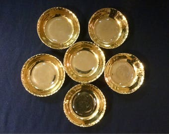 Krautheim Selb Gold Bowls 6pc K & A Krautheim Selb Bavaria Bone China Bowl Set Vintage
