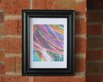 Abstract miniature print poster A5 wall art