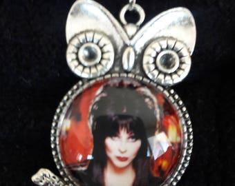 Elvira Owl Pendant with Chain