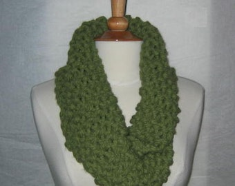 Thick and Plush Sage Green Cowl Scarf Neck Warmer