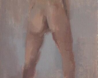 original oil painting / figurative nude